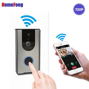 Homefong Wifi Video Intercom Doorbell Wireless Video Door Phone Doorbell Intercom 720P Motion Detection Record USB Charge