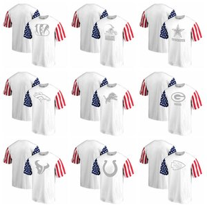 New 2020 Sweatshirt Top Quality Men T Shirts Bengals Browns Cowboys Broncos Lions Packers White Stars & Stripes T-Shirt clothes