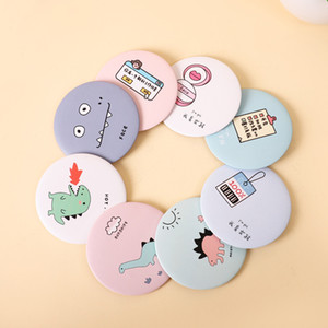 Hot Makeup Mini Mirrors Dressing Pocket Mirror Cute Cartoon Pattern Portable Compact Cosmetic Small Mirrors Beauty Tools Women