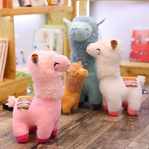 Lovely 4 Colors Alpaca Llama Plush Kids Toy Doll Animal Stuffed Animal Dolls Soft Plush Alpaca For Kids Birthday Gifts 25CM on Sale