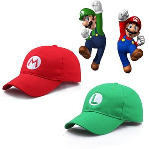 Wholesale Game Super Mario Hat Cap Accessories For Kids Luigi Bros Yoshi Wario Baseball Caps Cosplay Carnival Party Christmas Gifts Adult