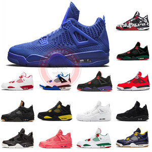 Wholesale 2019 s new Knit Basketball shoes for mens Retro Green Royal bule fire red motorsports Tattoo Black laser fashion Sports Sneakers