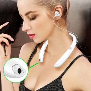 Wholesale Neck wearable camera recorder bluetooth headphone wireless earphone driving record external amplifying horn v4 music earphone