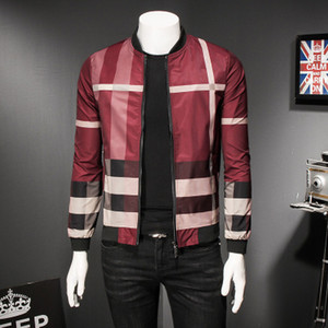 Wholesale Mens Designer Jackets Luxury Stripe Printing Thin Coat Casual British Style Mens Clothes New Styles Spring