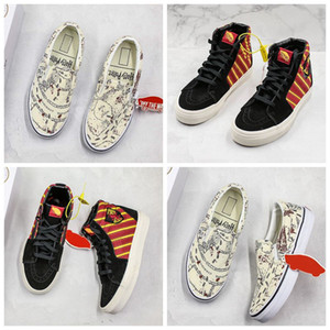 Wholesale Harry Potter X VANSE Old skool Skateboard Skate Shoes High Low Casual Sneakers Slip On Fashion Designer Canvas Shoes Mens Womens