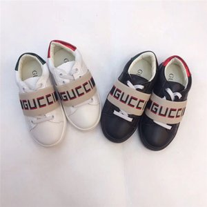 Wholesale High Fashion Shoe Designer for Kid Girl White Running Fashion Shoe Sneakers Boy Black Leather Designer Shoes Eu