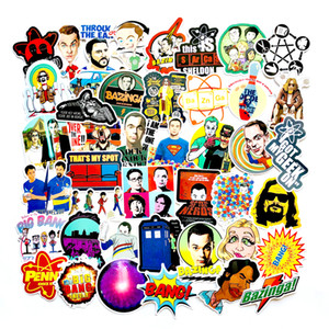 Wholesale 50pcs The Big Bang Theory Cartoon Stickers TV Series For Luggage Car Laptop Notebook Decal Fridge Skateboard Sticker F3