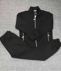 New classic fashion real photos top quality free shipping longsleeve men casual tracksuit sport tracksuit m-3xl black color