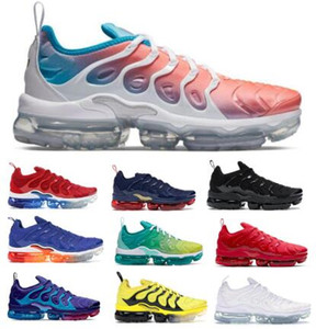 Wholesale vapor max for sale - Group buy Neon Tns Tn Plus Running Shoes Sneakers Airo Vapors Game Royal Bumblebee Betrue Grape Grid Print Maxes Olympic Mens Women Trainer Shoes