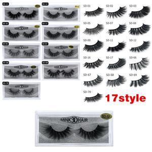 Wholesale 3D Mink Eyelashes Mink False lashes Soft Natural Thick Fake Eyelashes 3D Eye Lashes Extension 17 styles ship out within 24hours DHL free