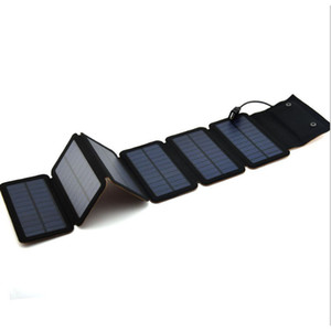 Wholesale 9W Mono Solar Panels Charger Portable Solar Power Bank Outdoors Emergency V A Power Charger for Mobile Phone Tablets