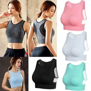 Wholesale Woman No Steel Ring Mesh Beauty Back Large Size Sports Bra Seamless Quick drying Shockproof Fitness Yoga Running Sports Underwear M565