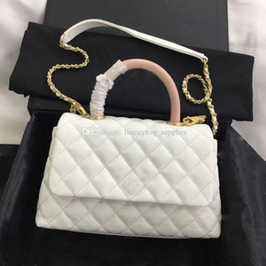 Wholesale Designer Handbags Luxury Wallet Bags New Cowhide Leather Handle Single Shoulder Handbag With Diamond Chain Flap Bag In Vintage Plain Color