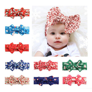 10 Colors Infant Bow Headbands Girl Christmas Headwear Kids Baby Photography Props Children Hair Accessories Baby Hair bands