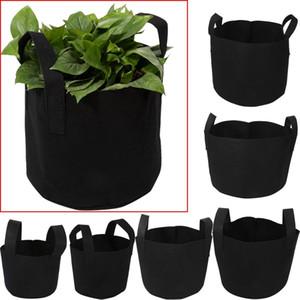 1 2 3 5 7 10 Gallon Black Garden Plant Grow Bag Vegetable Flower Pot Planter DIY Potato Garden Pot Plant Eco-Friendly Grow bag