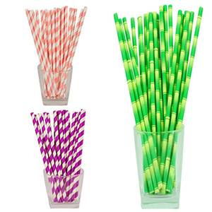 Wholesale Designs environmental colorful paper straw straight drinking straw wedding kids birthday party decoration disposable supplies dispette