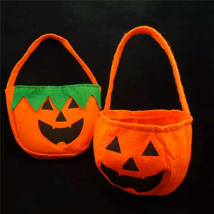 Wholesale gift bags for sale - Group buy Halloween Pumpkin Bags Hallowmas Sacks Gift Bags Drawstring Candy Bag Tricks Or Halloween Party Favor RRA1964