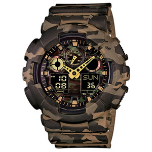 Wholesale gifts resale online - New style men s new watch men s outdoor watch sports absorption men s LED digital quartz clock gift for boys oak watches