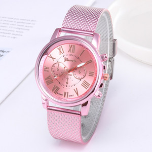 Men Watches Quartz Watch Women Foshion Wristwatch Clock Hot Luxury Stainless Steel Business Pink relogio masculino reloj hombre