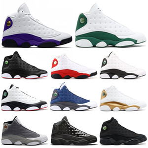 Wholesale Rivals LUCKY GREEN s Air Jordan Retro men basketball shoes Cap and Gown Black Cat Flint Playoff mens trainers sports sneakers