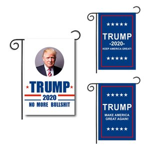 Wholesale 30 CM Trump Garden Flags President General Election Banner Holidays double faced Banner Flags Garden Decorations