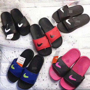 Wholesale NK Sports Kids Designer Slippers Boys Girls Sandals Soft Rubber Sole Flip Flops Home Outdoor Beach Casual Water Shoes Flat Sandals C61803