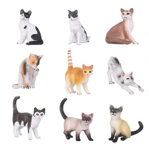Wholesale 1PC Plastic Fairy Garden Doll Mini Pet Model Figurine Miniature Cat Simulation Animal DIY Gift House Decor