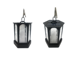 Wholesale white hanging solar lanterns resale online - Solar lights Metal Flickering Flame Solar Outdoor Hanging Lanterns Lighting Heavy Duty Solar Powered Waterproof LED Flame Lights for Garden