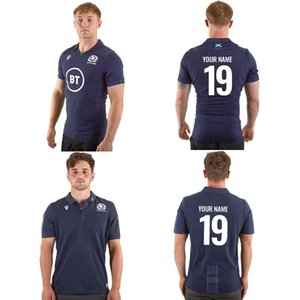 Wholesale 2019 SCOTLAND HOME RUGBY JERSEY Size S XL Print custom name and number The quality is perfect Free Delivery