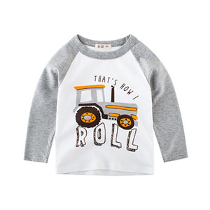 Wholesale New Autumn Boys T shirts Infant Baby Long Sleeve Casual Cotton Clothes Boy Kid Children Cartoon Track Tees