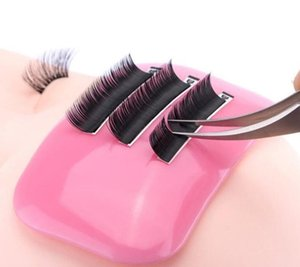 Wholesale Silicone Reusable False Eye Lashes Pad Tray Holder Eyelashes Extensions Lash Pad Mat Accessories Makeup Tools