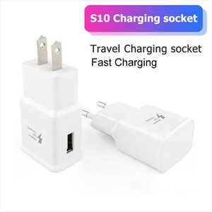 Good Quality Adaptive Fast Charging 5V 2A USB Wall Quick Charger Adapter US EU Plug For Samsung Galaxy S10e S10 S9 S8 Plus S7 edge Note 9 8