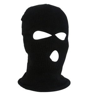 Wholesale black red ski mask resale online - OutdoorCycling Acrylic Yarn Full Face Mask Bicycle Ski Bike Ride Mask Winter Cap Balaclava Hood Army Tactical Hole