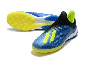 Wholesale Hot X FG Football Boots SKELETALWEAVE X Tango TF FG Men Soccer Shoes Indoor Outdoor Blue Yellow Soccer Shoes