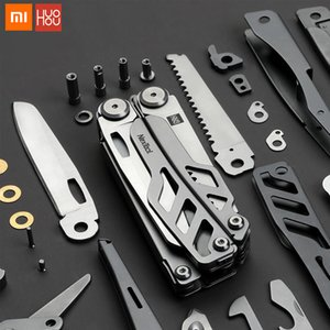Wholesale Xiaomi huohou multi-function Folding Knife Bottle Opener Screwdriver Pliers Stainless Steel Army Knives Hunting Outdoor Camping
