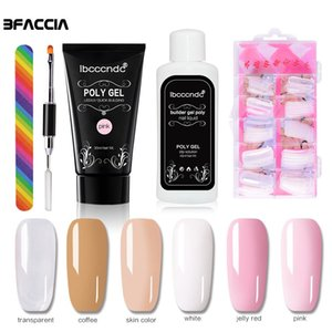 Wholesale Bfaccia Nail Art Set of Poly Gel g Polygel Liquid Slip Solution Nail Form Modle Tips Dual Use Brush Tools Gel Kit