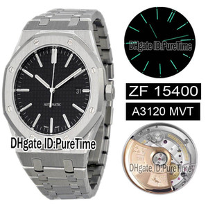 Wholesale engraved boxes resale online - New ZFF mm Royal Black Texture Dial Cal A3120 Automatic Mens Watch Best Super Edition Deep Engraving Buckle Free Box Puretime Za01