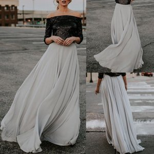 New Womens Grey Pretty Dresses Flared Gypsy Boho Long Maxi Full Skirt Party Beach Dress Evening Dresses