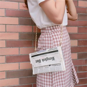 Wholesale Milk bear orijina thailand newspaper bag letter envlope bag shoulder purse evening bags chain clothing wallet cross body