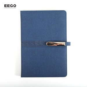 Wholesale Hardcover Notebook A5 College Ruled Thick Classic Writing Notebook PU Leather with Metal Buckle
