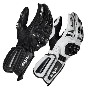 Wholesale Furygan carbon fiber leather racing off-road gloves riding gloves motorcycle full-finger gloves cycling gloves black white