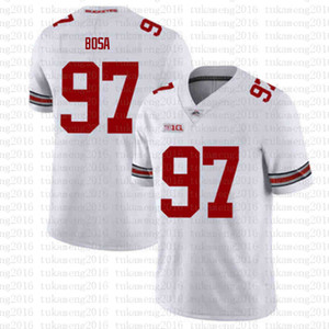 Wholesale red american football jerseys resale online - NCAA Ohio State Buckeyes Nick Bosa Dwayne Haskins Jr American football Jersey red white Tom Brady Saquon Barkley XER