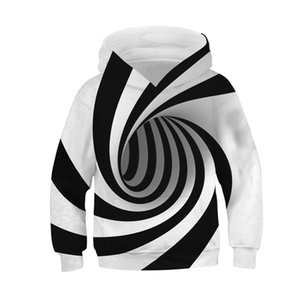 Pullover Sweatshirt For Boy Geometric Vortex Hooded Children Boy Clothes Pullover Children Clothes Moletom Feminino Inverno