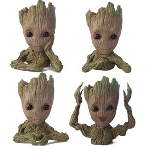 Baby Groot Flower Pot Plant Tree Guardians of the Galaxy Action Figure Model PVC Kids Toys Movie Collection Garden Pot Decoration Figurines