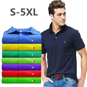 Wholesale Plus Size S-5XL Brand New Men's Polo Shirt Men Brand LOGO Embroidery Cotton Short Sleeve shirt 2019 Summer Mens polo Shirts High Quality