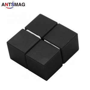 Wholesale 4 Pack Plastic Coated N52 Neodymium mm Cube Magnets DIY Permanent Magnets