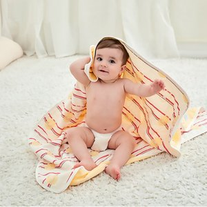 Wholesale 6 Layer Cotton Yarn Blanket for Newborns Soft Baby Blanket Baby Bedding Swaddle Wrap Infant Bath Towel Stroller Cover
