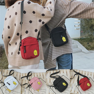 Wholesale Unisex Women Men Cartoon Yellow Duck Printing Solid Color Shoulder Bag Crossbody Sport Travel Hiking Satchel