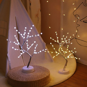 Wholesale light switch wires resale online - LED Night Light Stars Snowflake Pendant Lights Led Copper Wire Lights Tree Lights Touch Screen Switch Home Party Decoration XD23184