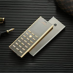 Wholesale gsm mp3 player video for sale - Group buy Luxury metal body dual sim Card key cell phone Fashion Design Small mini card GSM senior Golden Unlocked Signature Steel Mobile phone